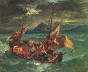 sea-galilee by Eugène Delacroix